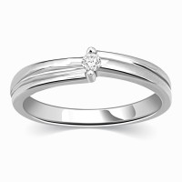 Kama Jewellery Venezia Solitaire Engagement Platinum Ring Platinum Diamond Ring