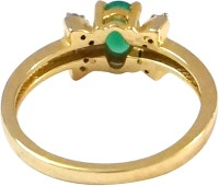 R S Jewels Gold Plated Cz Studdeds Emerald Alloy Cubic Zirconia Ring