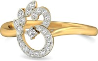 WearYourShine By PCJ The Tri-Leaf Om Gold Diamond 18 K Ring