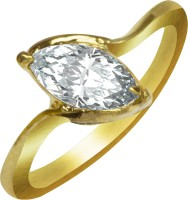 Shining Jewel 24k Eternal Engagement Ring Brass Cubic Zirconia Yellow Gold Ring
