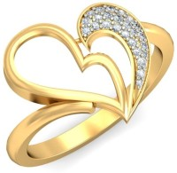 Demira Jewels Array Of Love Heart Yellow Gold Diamond 14 K Ring
