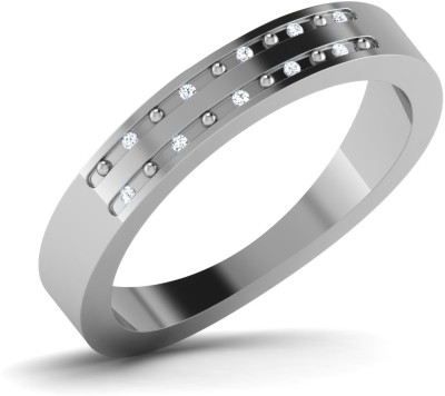 CaratLane Martha Silver Diamond Ring