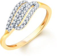 Karatcraft Style Curves Yellow Gold Diamond 18 K Ring