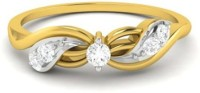 Vijisan 0.17 Ct. Promise Of Forever Love Ladies Sterling Silver Cubic Zirconia 18K Yellow Gold Ring