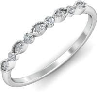 KuberBox El Roce Gold Diamond 14K White Gold Plated 14 K Ring