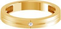 Jacknjewel Jacknjewel 18kt Yellow Gold Plated Silver 0.03 Carat Certified Diamond Couple Band Silver Diamond Yellow Gold Ring