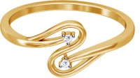 JacknJewel Classical Yellow Gold Diamond Yellow Gold Plated 18 K Ring
