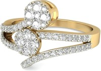 WearYourShine By PCJ The Mary Jane Diamond Gold Diamond 18K Yellow Gold Plated 18 K Ring
