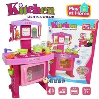 Gme Kitchen Pretend Play Set Toy With Music And Lights For Girls