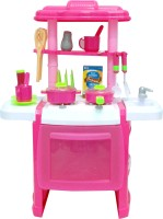 Comdaq Pink Kitchen Set WIth Lights And Sound (color May Vary)