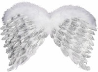 Forum Novelties Angel Feather Wings With Glitter (color May Vary)