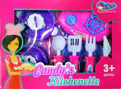 Jaywebstore Kitchen Cooking Set Toy (Candy's Kitchenette) Multicolour