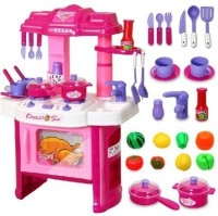 Mayatra's Playing Big Kitchen Cook Set Toy Kids (color May Vary)