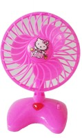 Vaibhav Cute Mini Plastic Toy Fan For Kids - Battery Operated (color May Vary)
