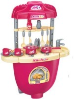 Xiong Cheng Portable Kitchen Set Trolley With Light And Sound