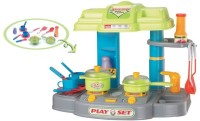 Zaprap Kitchen Cook Set Toy Kids Play (color May Vary)