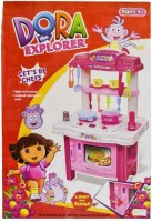 Turban Toys Dora The Explorer Large 65 Cm Imported Premium Quality Kitchen Play Set With Light And Sound Girl Toy Gift (color May Vary)