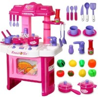 Playking Big Kitchen Cook Set Toy Kids Play Pretend Kitchen Set