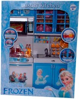 ToyTree Frozen Blue Kitchen Set, 2 Compartments, Windows And Doors Opening + Many Utensils And Other Accessories (color May Vary)