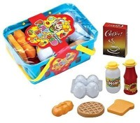 Dazzling Toys Toys Pretend Play Breakfast & Lunch Play Food Set With Basket For Kids - 10 Piece Set