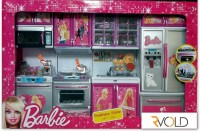 RVOLD Barbie 4 Set Beautiful Kitchen With Lights And Sound (color May Vary)