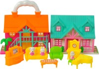 Magic Pitara Doll House With Furniture Play Set (color May Vary)