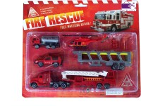 Scrazy Planet Of Toys Fire Rescue Set For Kids (color May Vary)