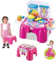 Toytree Kids' Real Action Kitchen Set With Lights And Sound (color May Vary)