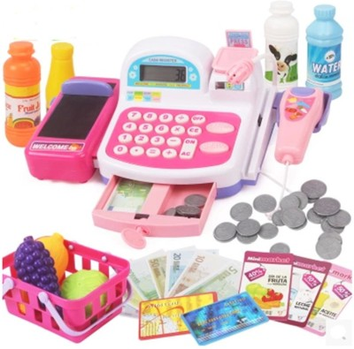 Zolu My Mini Market With Shopping Cart And Cash Register. (color May Vary)