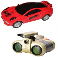 New Pinch Musical 3D Lights Car With Binoculars Toy