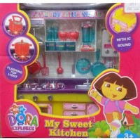 B.M.R. Trading Co. Dora Kitchen Set (Sound And Light Effect) (color May Vary)