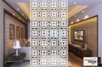 Planet Decor Plastic Decorative Screen Partition (Hanging, Finish Color - White) - RDPEFY86ZZRYREHW