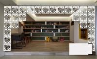 Planet Decor Plastic Decorative Screen Partition (Hanging, Finish Color - White) - RDPEFY86TTU4ZZJW