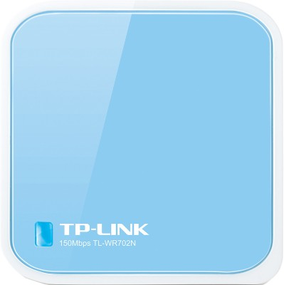 TP-LINK TL-WR702N 150Mbps Wireless N Nano Router (Blue & White)