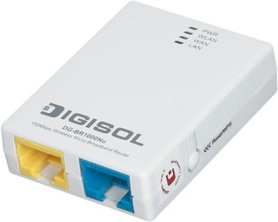 Digisol DG-BR1000Nu 150 Mbps Wireless Micro Broadband Router (White)