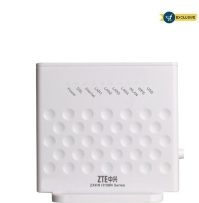 ZTE H108N - 300 Mbps Wireless N ADSL Modem (White)
