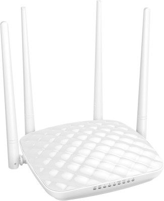 Tenda 300Mbps High Power Wireless Router, with 4 fixed 5dbi antenna , 3LAN ,1WAN Port TE-FH456 (White)