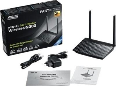 Asus Asus RT-N12+ 300 Mbps 3-in-1 Router / AP / Range Extender (Black)