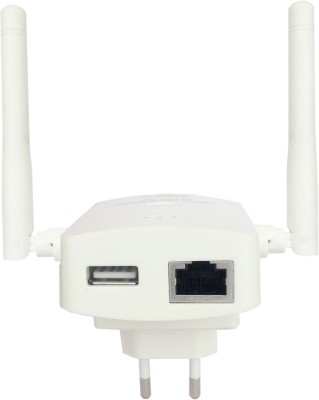Leoxsys 300M WiFi Repeater Wireless 11N signal Booster range extender Router with 2x3dBi Antenna (white)