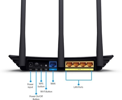 TP-LINK TL-WR940N 450Mbps Wireless N Router (Black)