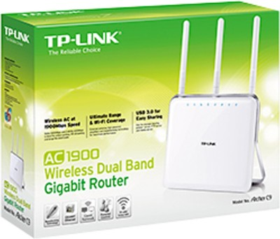 TP-LINK Archer C9 AC1900 Dual Band Gigabit Wireless Router (White)