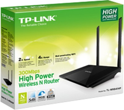 TP-LINK TL-WR841HP 300Mbps High Power Wireless N Router (Black)