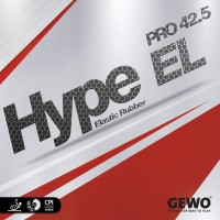 GEWO GEWO HYPE EL PRO 42.5 BLACK 2.1 Mm Table Tennis Rubber (Black)