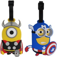 Tootpado Travel Bag - Superhero Thor And Cartoon (Pack Of 2) 1i420 Luggage Tag Multicolor
