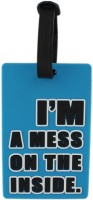 Tootpado Travel Bag - I'm A Mess On The Inside (Pack Of 2) Luggage Tag Blue