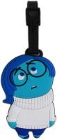 Tootpado Sad Cartoon Design Travel Bag - 1i385 Luggage Tag Blue