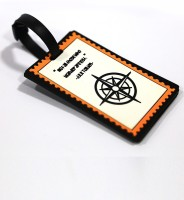 Random In Tandem Compass Explorer Luggage Tag Orange