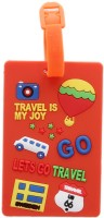 Tootpado Travel Is My Joy (Pack Of 2) Luggage Tag Orange