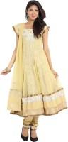 Sudarshan Silks Printed, Self Design Anarkali Suit