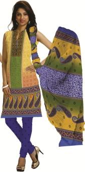 Aarvi Fashion Printed, Graphic Print Kurta & Churidar Stitched